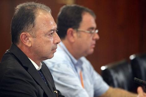 Daniel Rivera, cuando declaró ante la comisión del Parlamento.   J. Morón