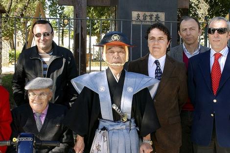 Hasekura Tsunetaka, descendiente de Hasekur, durante una visita a Coria. | Efe