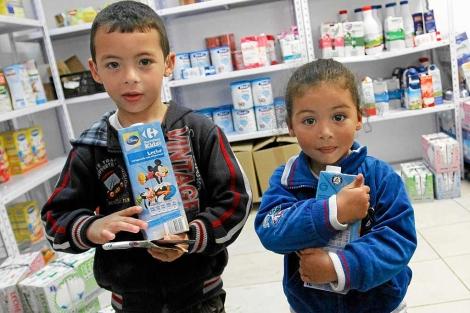 El proyecto lucha contra la desnutrición infantil en Mallorca.   Jordi Avellà