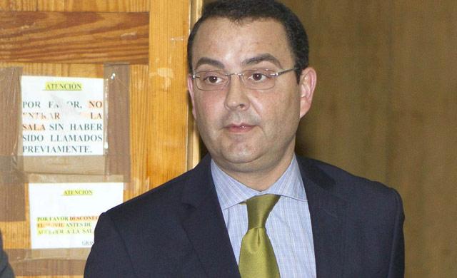 El empresario valenciano Miguel Zorío, en los pasillos del juzgado de Palma de Mallorca. | Efe