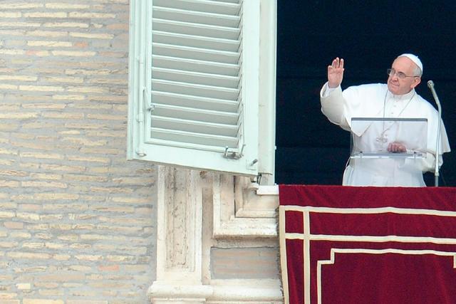 El domingo en el tradicional Angelus en la Plaza de San Pedro del Vaticano. | Efe
