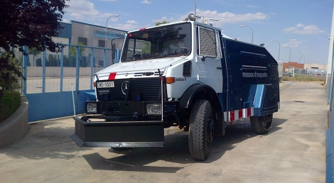La tanqueta de los Mossos d'Esquadra adquirida en 1994. | ELMUNDO.es