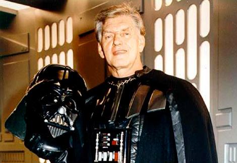 David Prowse durante el rodaje de una de las entregas de 'Star Wars'.