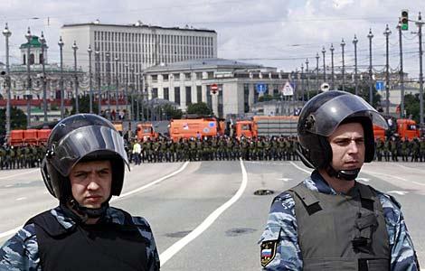 La policía rusa permanece alerta