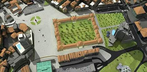 Otra perspectiva de cómo quedaría la plaza según los planes del gobierno turco.| E. M.