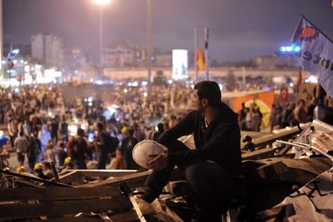 Manifestantes en el parque Gezi de Estambul.   Afp