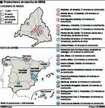 Mapa de sus promociones. | M. Ibeas