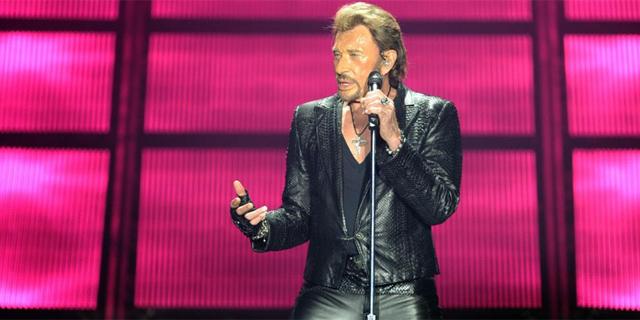 Johnny Hallyday durante una actuación. | Afp