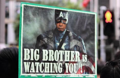 Imagen de una pancarta en la marcha.