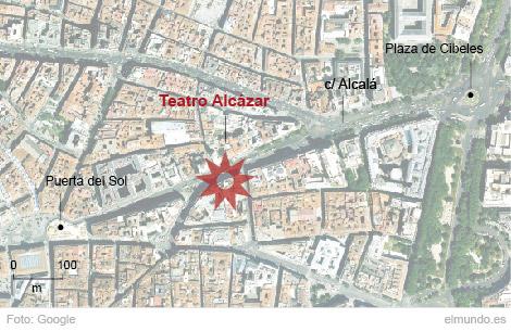 Localizador del teatro Alcázar