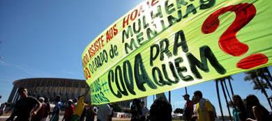 Protestas en Brasilia contra la Copa Confederaciones. | Efe