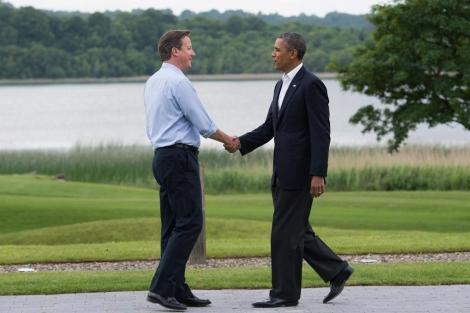 David Cameron y Barack obama. | Afp