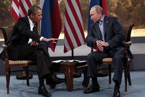Encuentro entre Barack Obama y Vladímir Putin.  Reuters