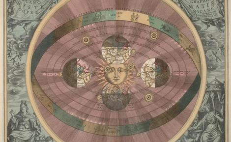 Universo Heliocéntrico según Andreas Cellarius. | E.M.