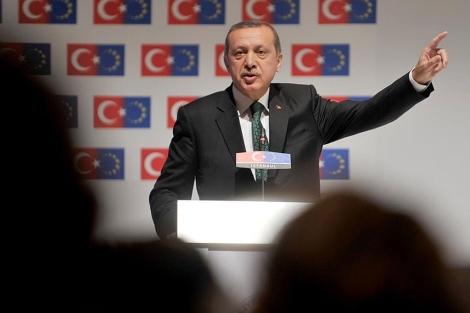 Erdogan, en una reunión de ministros de Asuntos Europeos, en Estambul.| Afp