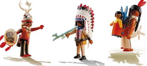 Algunos de los muñecos de la línea del Oeste de Playmobil.
