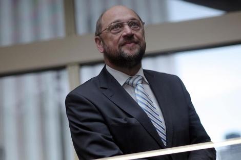 l presidente del Parlamento Europeo, el alemán Martin Schulz. | A. M. Xoubanova
