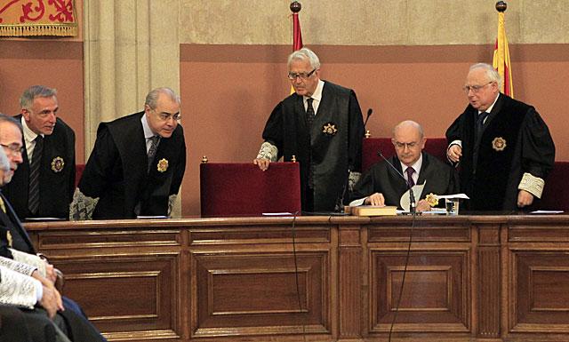 Acto de nueva promoción de jueces, el pasado 10 de abril en Barcelona. | Domènec Umbert
