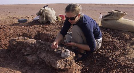 Tara Smiley durante la excavación.| Christian A. Sidor.