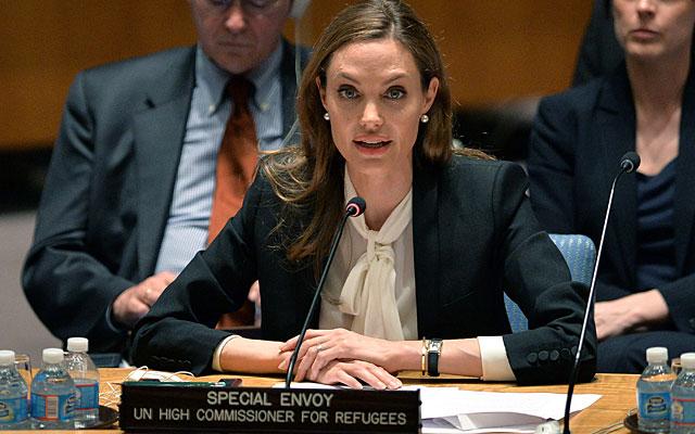 Angelina Jolie, en Naciones Unidas. | AFP