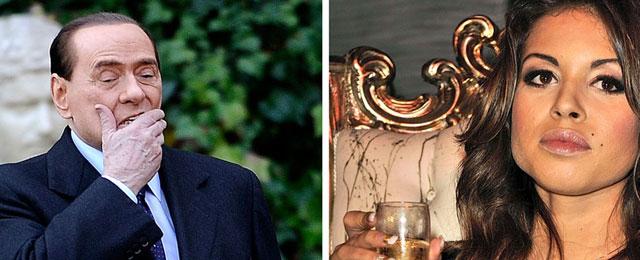 Berlusconi y 'Ruby rompecorazones' en fotos de archivo. | Afp