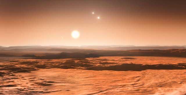 Recreación de uno de los exoplanetas del sistema Gliese 667C.| ESO