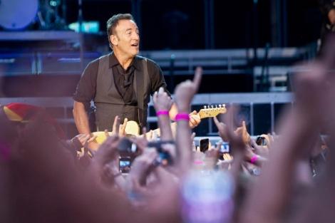 El músico estadounidense, en el concierto en el Bernabéu el pasado verano. | A. di Lolli