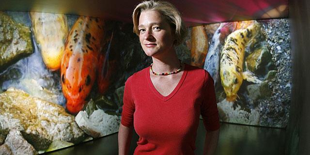 La artista Delphine Boel, en 2007.   AFP