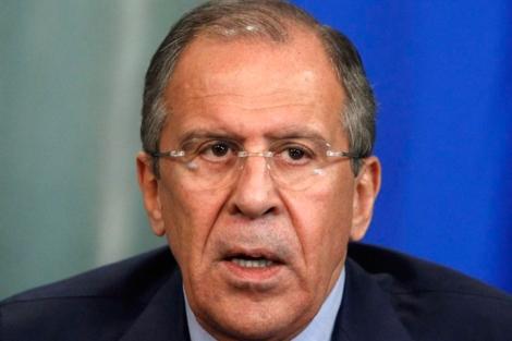El ministro de Exteriores rusos durante la rueda de prensa. | Reuters