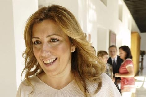 Susana Díaz, en los pasillos del Parlamento andaluz este miércoles. | Efe