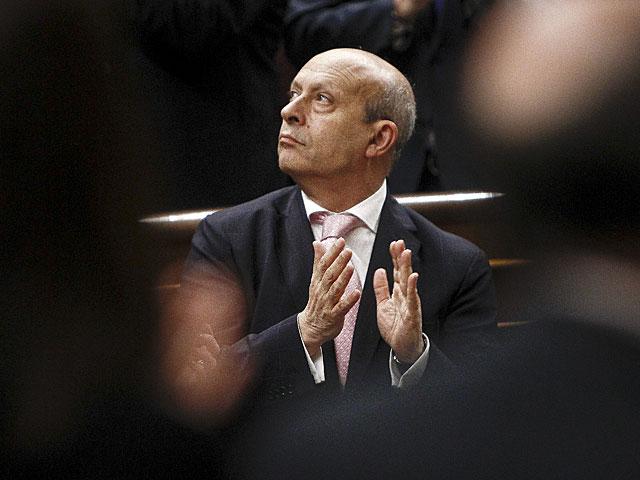 El ministro de Educación, José Ignacio Wert, en el pleno del Congreso. | Alberto Di Lolli