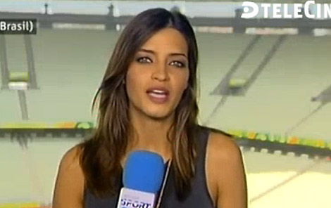 Sara Carbonero, desde Fortaleza (Brasil). | Telecinco