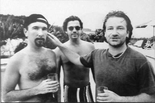 Con Bono y The Edge.