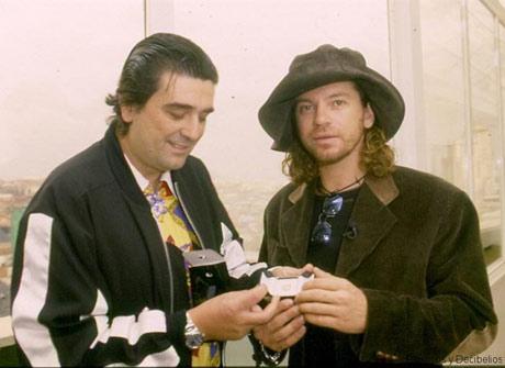Con Julián Ruiz, en 1997.