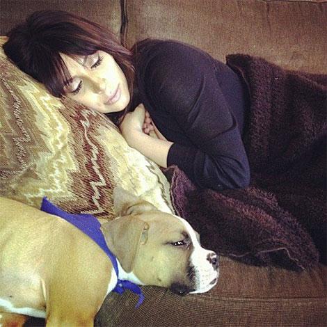Kim Kardashian, en una foto compartida por su hermana el sábado. | Facebook