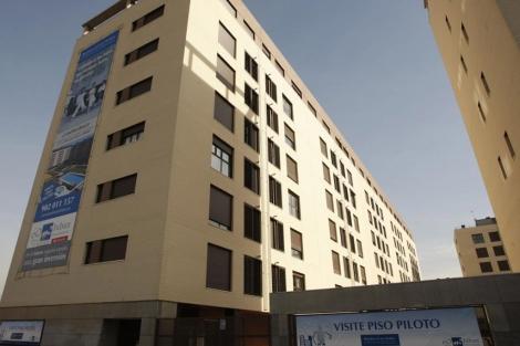 Bloque de pisos en venta a estrenar en Madrid. | Sergio González
