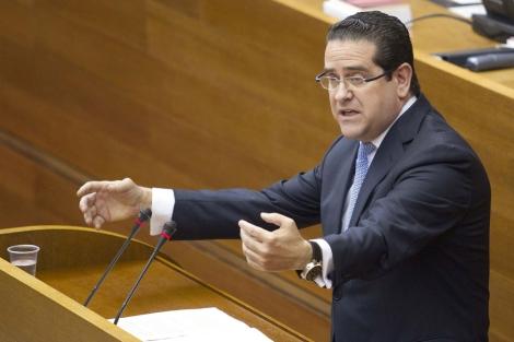 Jorge Bellver, portavoz del PP en las Cortes, durante un debate. | Benito Pajares