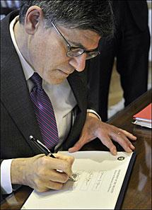 Jack Lew, jefe del Tesoro de EEUU