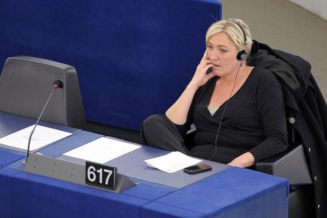 La política francesa Marine Le Pen, en el Parlamento Europeo en Estrasburgo. | Afp