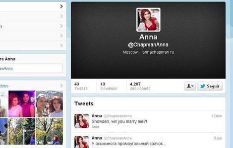 La petición de matrimonio en la cuenta de Twitter de Chapman.
