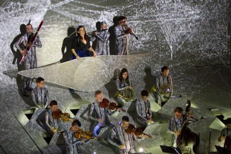 Momento de la orquesta en la represntación de la obra. | Carlos Choin