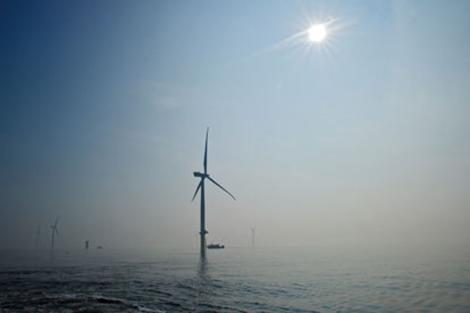 Turbina procedente del parque eólico marino de Londres. | London Array