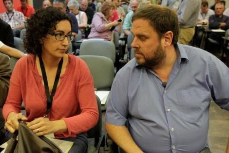 Marta Rovira y Oriol Junqueras| ANTONIO MORENO