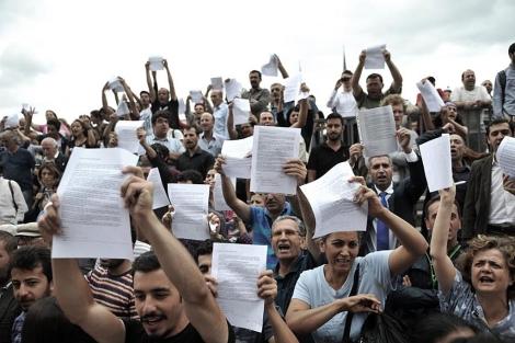 Protestas del pasado 1 de junio en el parque Gezi. | Foto: Afp