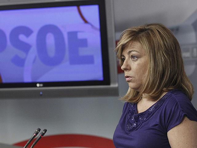 Elena Valenciano, durante su comparecencia en la rueda de prensa. | Zipi / Efe