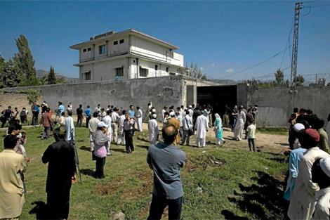 El complejo de Abbottabad donde vivió el terrorista.