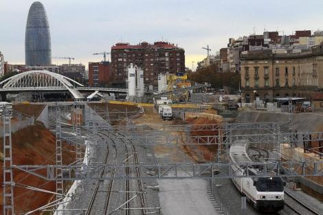 Obras de la estación barcelonesa de alta velocidad.   Christian Maury