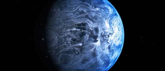 Recreación artística del exoplaneta 'HD 189733b'. | NASA / ESA