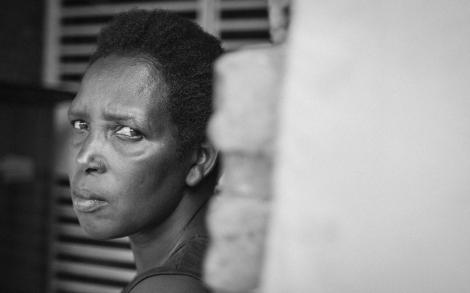 Serafine, superviviente del genocidio y guía del memorial de Nyamata. | Raquel Villaécija