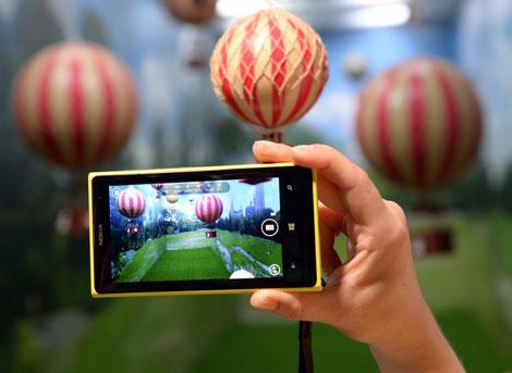 Demostración de las posibilidades de la cámara Lumia 1020.   Afp